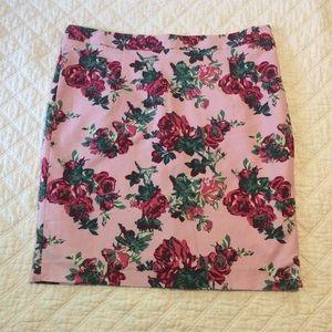 Janie Bryant Mod floral high waisted pencil skirt